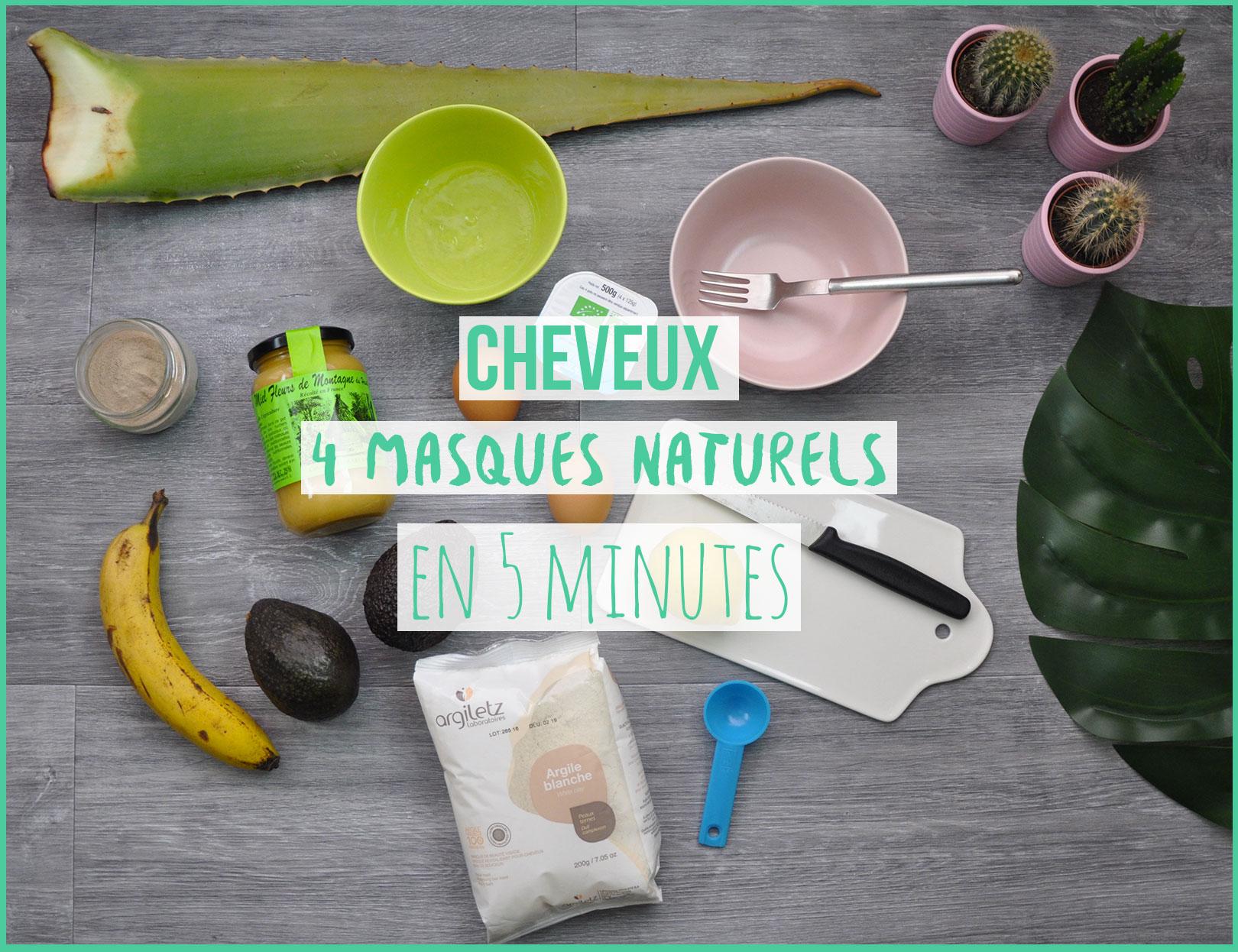 Masques pour les cheveux, quatre recettes naturelles réalisées en 5 minutes chrono