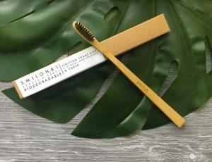 Brosse à dents en bois de bambou naturel
