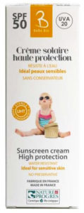 GravierFabricant français Crème solaire haute protection SPF 50 UHT 50 ml