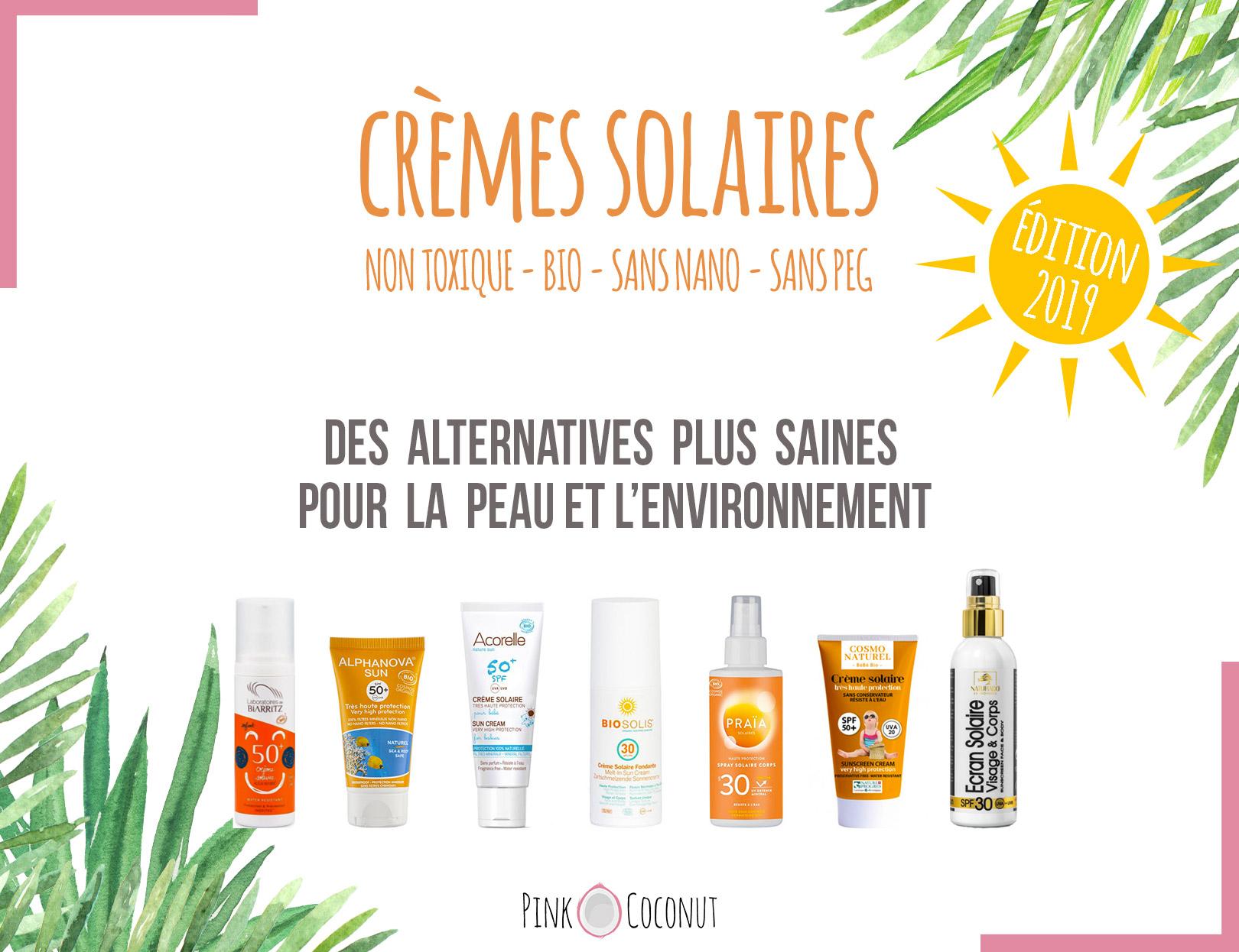 Crème solaire bio, une sélection des meilleures crèmes pour la peau et respectueuse de l'environnement.